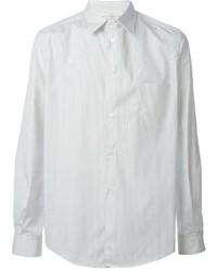 Camisa de vestir de rayas verticales blanca de Golden Goose Deluxe Brand