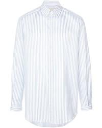 Camisa de vestir de rayas verticales blanca de Gucci