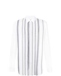 Camisa de vestir de rayas verticales blanca de Maison Margiela