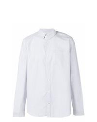 Camisa de vestir de rayas verticales blanca de Nn07