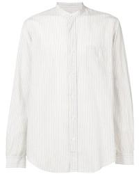 Camisa de vestir de rayas verticales blanca de President'S
