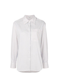 Camisa de vestir de rayas verticales blanca de Sonia Rykiel
