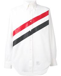 Camisa de vestir de rayas verticales blanca de Thom Browne