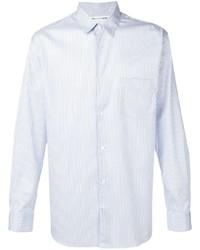 Camisa de vestir de rayas verticales celeste de Comme Des Garcons SHIRT