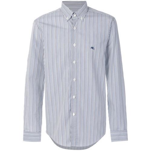 Camisa de vestir de rayas verticales celeste de Etro