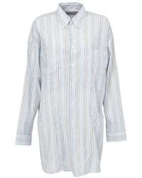 Camisa de vestir de rayas verticales celeste de Faith Connexion