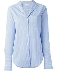 Camisa de vestir de rayas verticales celeste de Rag & Bone