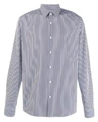 Camisa de vestir de rayas verticales en blanco y azul marino de Sandro Paris