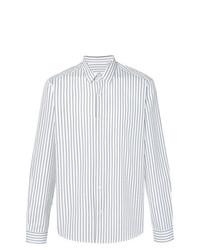 Camisa de vestir de rayas verticales en blanco y negro de AMI Alexandre Mattiussi