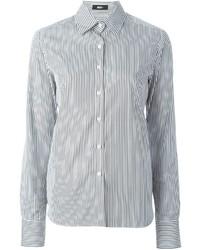 Camisa de vestir de rayas verticales en blanco y negro de Best
