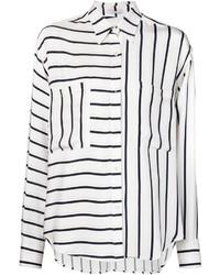 Camisa de vestir de rayas verticales en blanco y negro de Tome