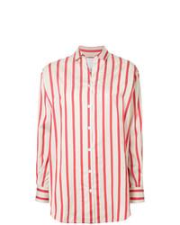 360297c488 Camisa de vestir de rayas verticales en blanco y rojo de CHRISTOPHER ESBER