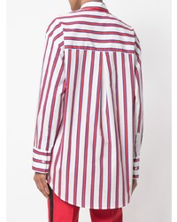 c723d9962d Comprar una camisa de vestir de rayas verticales en blanco y rojo ...