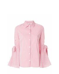 5426d01774 ... Camisa de vestir de rayas verticales en blanco y rojo de P.A.R.O.S.H.