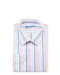Camisa de Vestir de Rayas Verticales en Multicolor