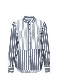 Camisa de vestir de rayas verticales gris de Derek Lam 10 Crosby
