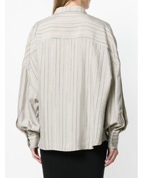 Camisa de vestir de rayas verticales gris de Esteban Cortazar