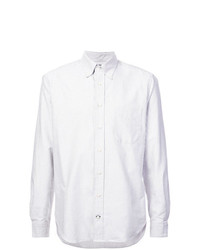 Camisa de vestir de rayas verticales gris de Gitman Vintage