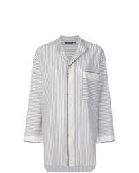 Camisa de vestir de rayas verticales gris de Pas De Calais