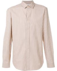 Camisa de vestir de rayas verticales marrón claro de Maison Margiela