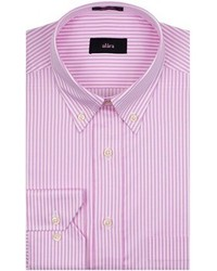 Camisa de vestir de rayas verticales rosada