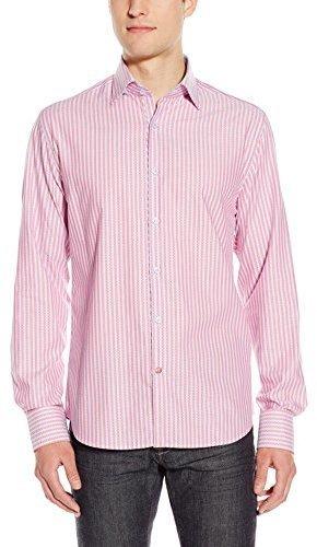 Camisa de vestir de rayas verticales rosada de Stone Rose