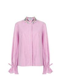 Camisa de vestir de rayas verticales rosada de Vivetta