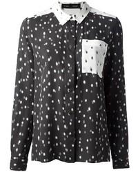 Camisa de vestir de seda a lunares negra de Proenza Schouler