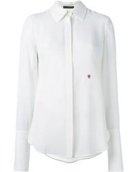 Camisa de vestir de seda blanca de Alexander McQueen