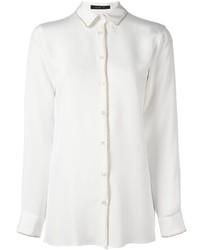 Camisa de vestir de seda blanca de Etro