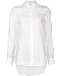 Camisa de vestir de seda blanca de Frame