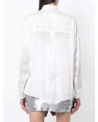 Camisa de vestir de seda blanca de IRO