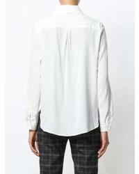 Camisa de vestir de seda blanca de Le Tricot Perugia