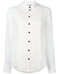 Camisa de vestir de seda blanca de Moschino