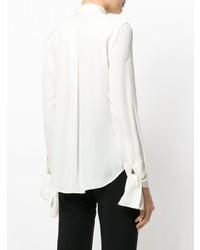 Camisa de vestir de seda blanca de Theory