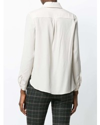 Camisa de vestir de seda en beige de Le Tricot Perugia