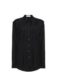 Camisa de vestir de seda negra de Faith Connexion