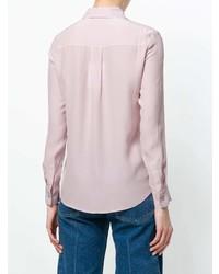 Camisa de vestir de seda rosada de Max & Moi