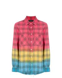 Camisa de vestir de tartán en multicolor de Amiri