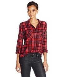 Camisa de vestir de tartán roja de Sanctuary Clothing