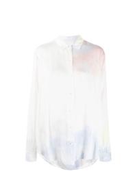 Camisa de vestir efecto teñido anudado blanca de John Elliott