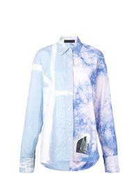 Camisa de vestir efecto teñido anudado celeste de Proenza Schouler