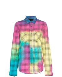 Camisa de vestir efecto teñido anudado en multicolor de Amiri