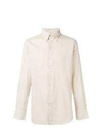 Camisa de vestir en beige de Finamore 1925 Napoli