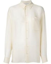 Camisa de Vestir en Beige de Stella McCartney