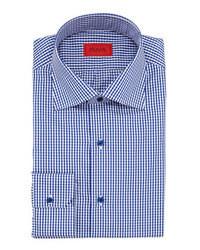 Camisa de vestir en blanco y azul marino