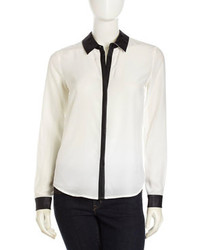 Camisa de vestir en blanco y negro original 3139809