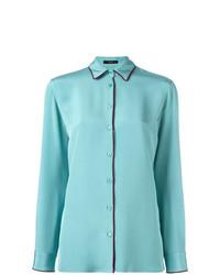Camisa de vestir en turquesa de Etro