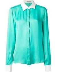 Camisa de vestir en verde menta de Emilio Pucci