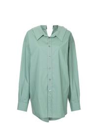 Camisa de vestir en verde menta de Marni